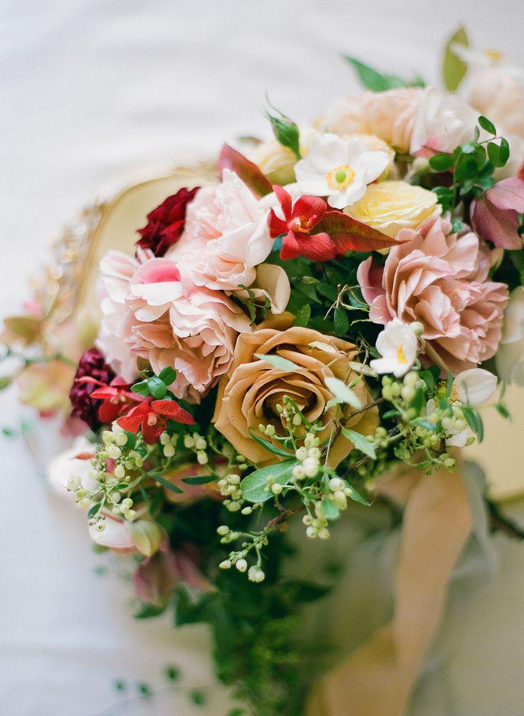 Floral Design: Laura's Floras - www.stylemepretty... Venue: Villa Florentina - w...