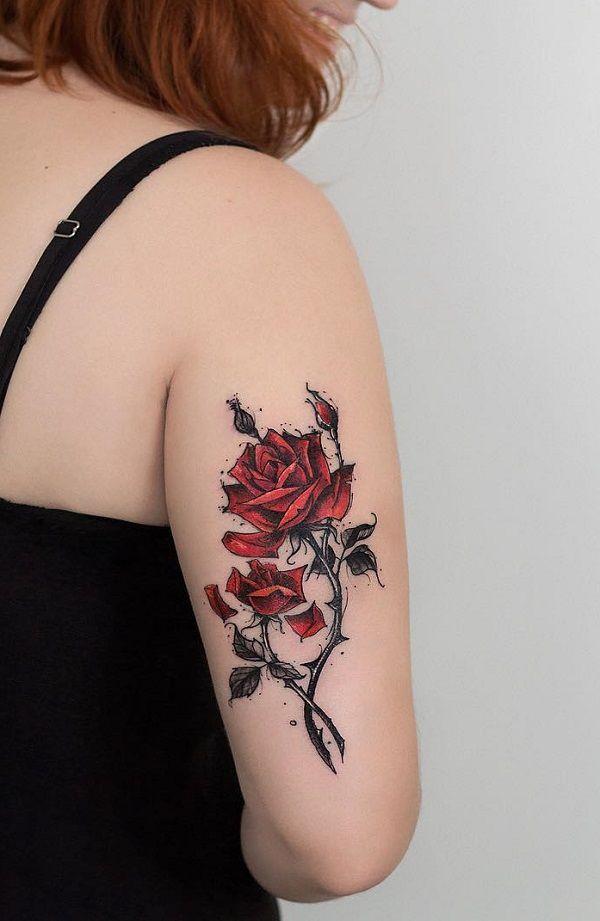 Amazing rose tattoo - 120+ Meaningful Rose Tattoo Designs