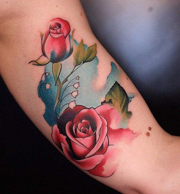 Rose tattoo  - 120+ Meaningful Rose Tattoo Designs