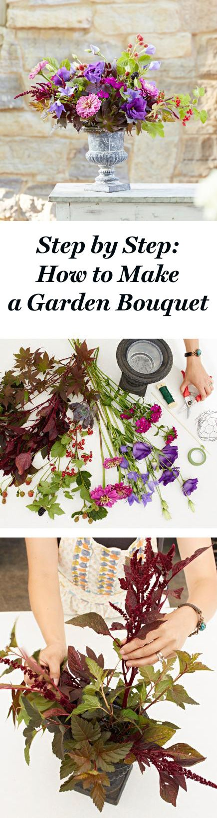 Design a bouquet with a wide array of florals, edibles and botanicals—even wee...