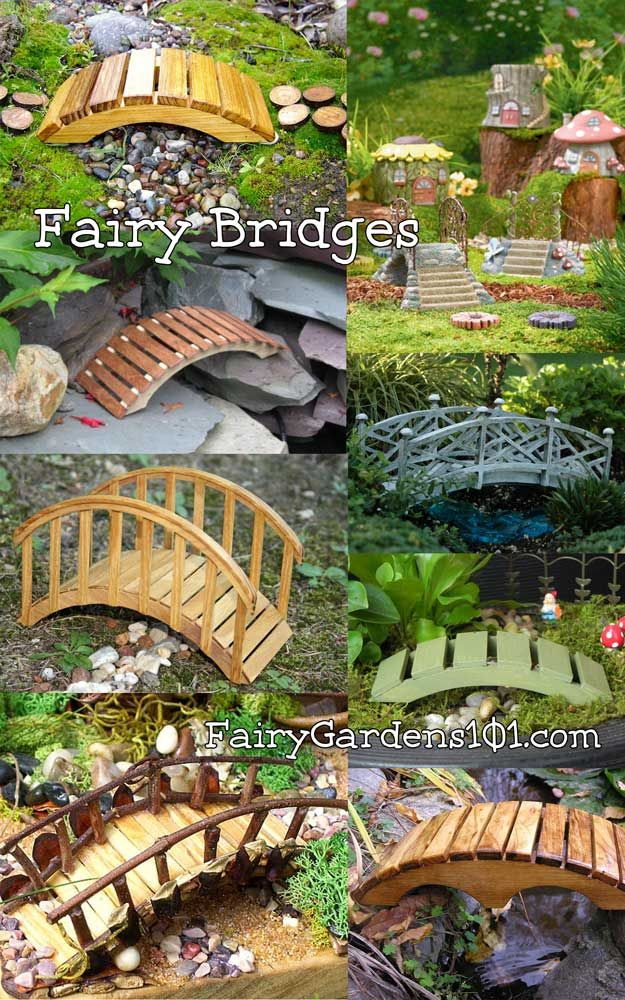 Fairy Bridges, could use almost any medium for these. Note also how they made th...