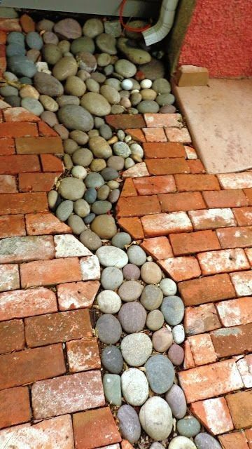 Great way for drainage from downspout. These look a little like our Multicolor R...