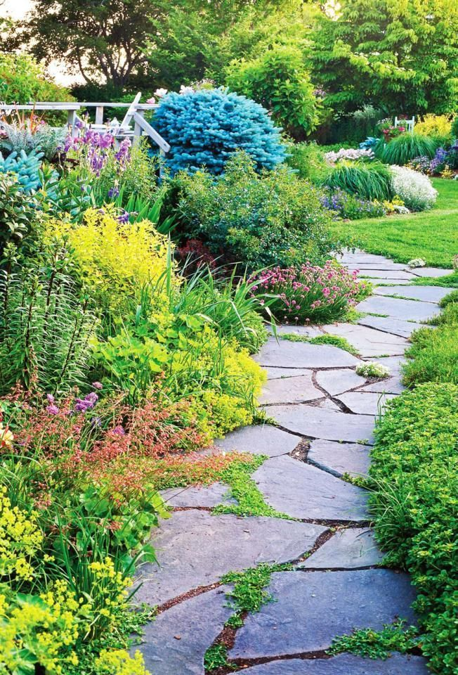 Large stones set in mulch are a good solution for a path that gets moderate use....