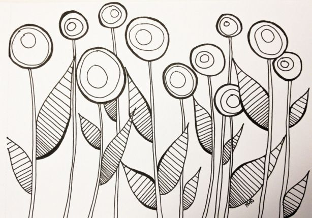 Busy Busy Bee Doodle ~ Elements used for a (lollipop) tree doodle