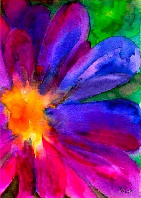 Happiness Flower in watercolor by Karin Nemri ♥ ♥ discountattractio...