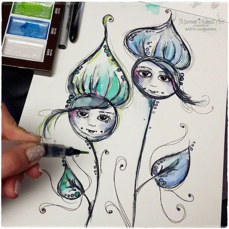 Hi, hello my dear Friends! Have you got watercolors ? Did you play with your pai...