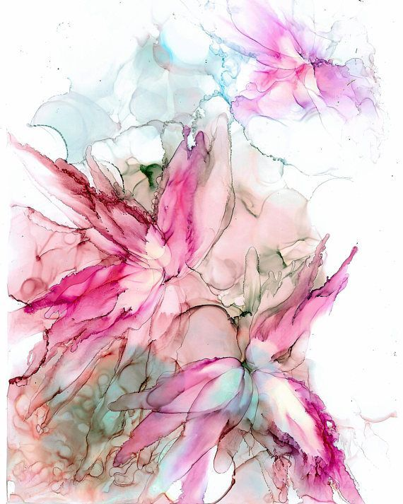 This is an original painting. I love flowers and all colour combinations in alco...