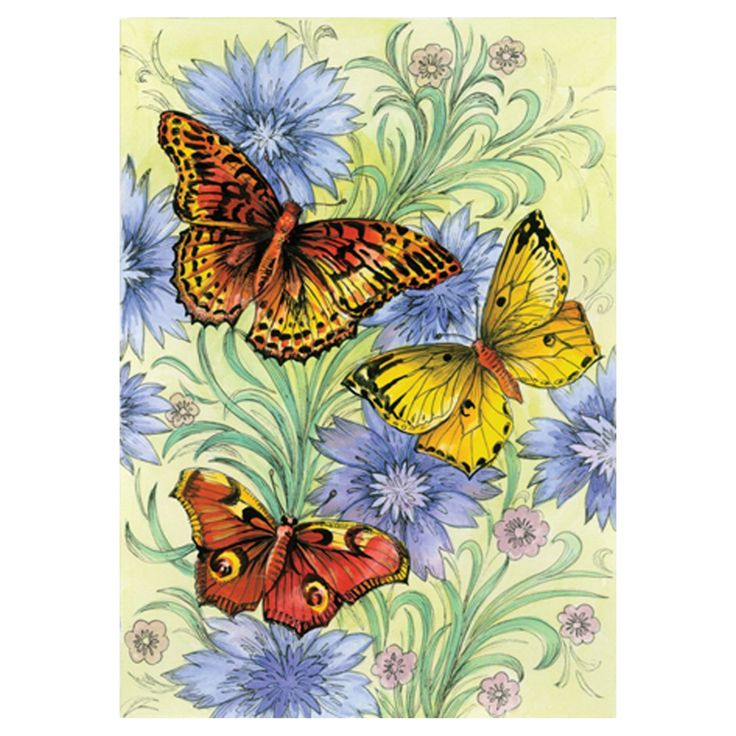 Toland Home Garden Flowers and Butterflies Flag - 111154
