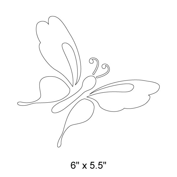 - butterfly wall stencil - measures 6