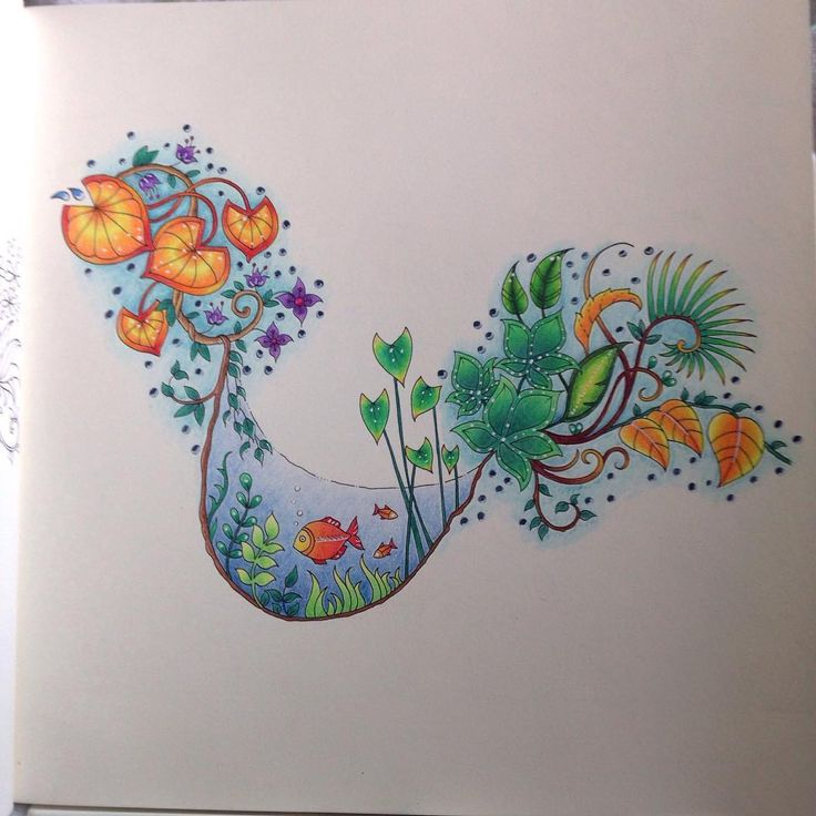 Min första från Magical Jungle :) #magicaljungle #johannabasford #coloringbook...
