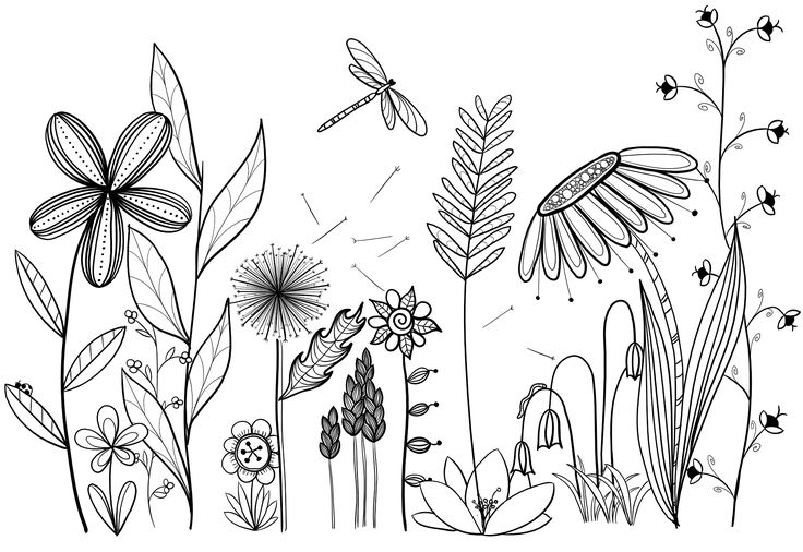 My original art, inspired by many.  Doodle, flower, line drawing, tattoo, garden...