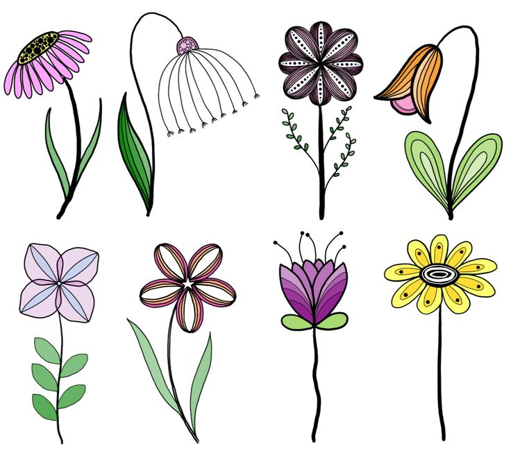 My original artwork, inspired by many. ♥️  Doodle, flower, line drawing, tat...