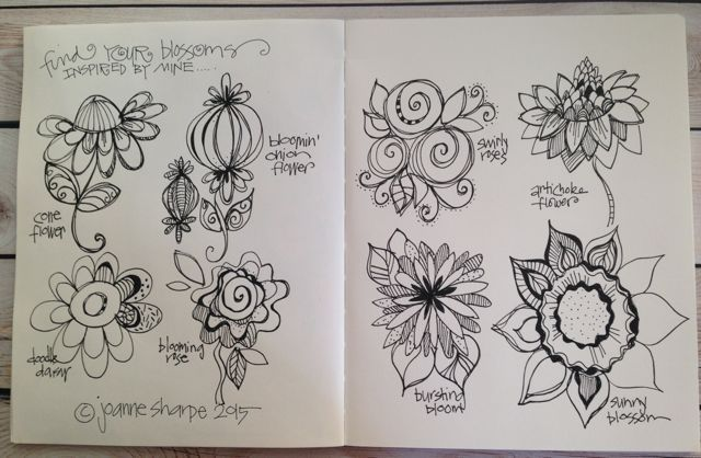 PART TWO: Draw Inspired Blossoms (video and photos) - LESSON FIVE: