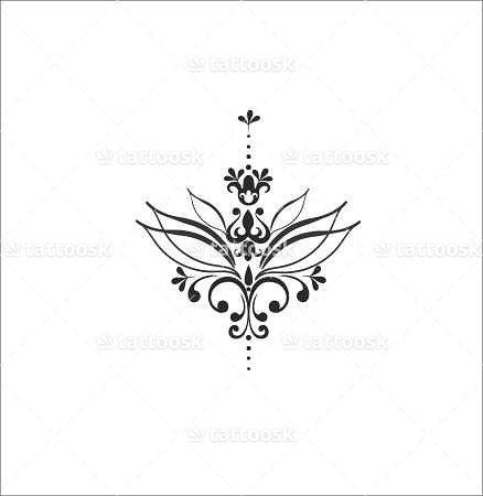 Small Lotus Flower Tattoo ❥❥❥ tattoosk.com/...