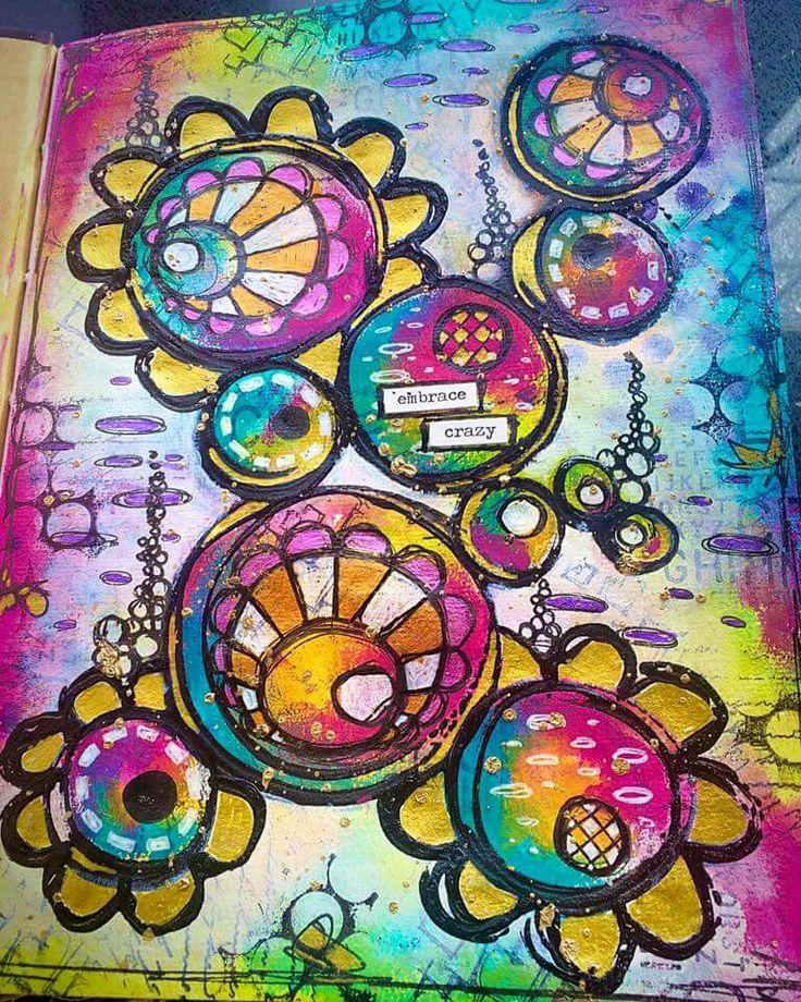 Tracy Scott's Art  - More play in my Dina Wakley media journal.
