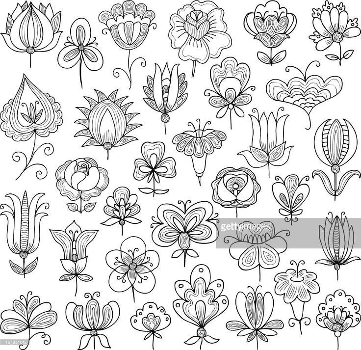 Vector Art : flowers doodle