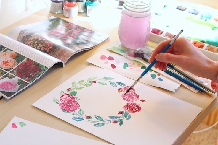 Watercolor Tutorial Lesson Eight: Floral Wreaths — Custom Portraits by Michell...