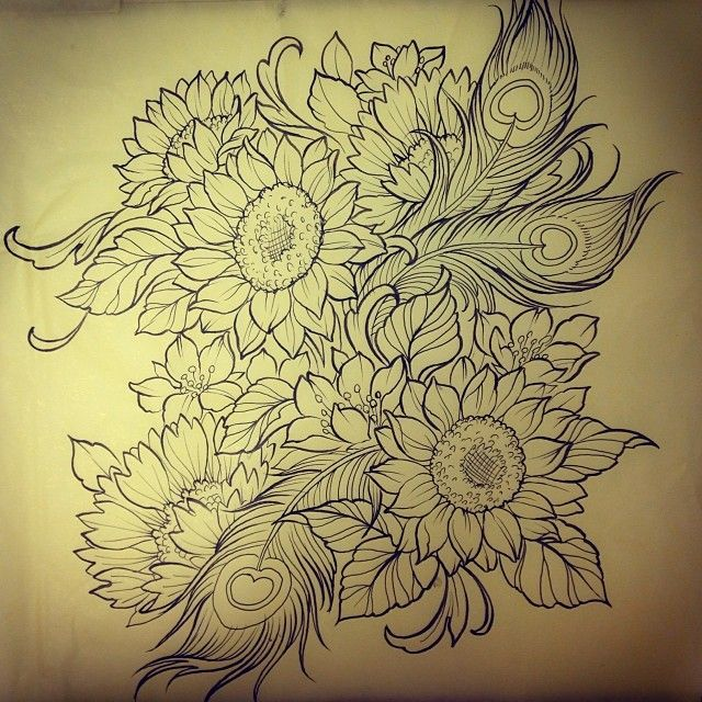 Tattoo Design Flower Drawing