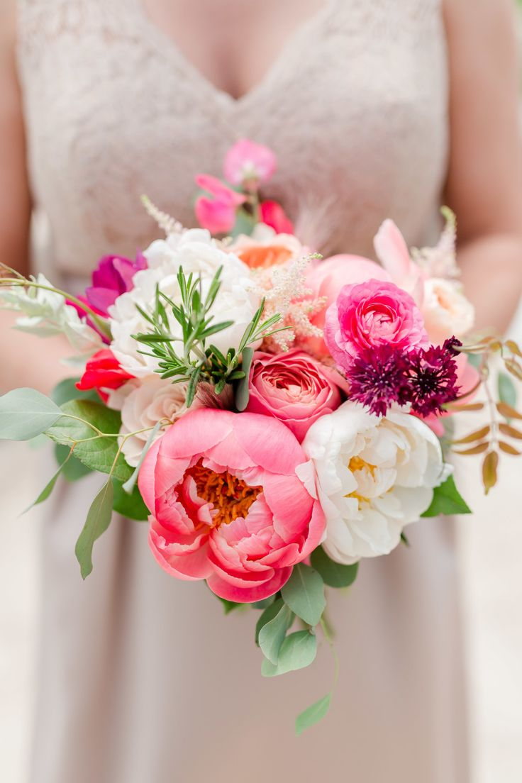 Pink + Peony = PERFECTION! Bridesmaid's Bouquet by BudsNBloom.com | Maison Mered...
