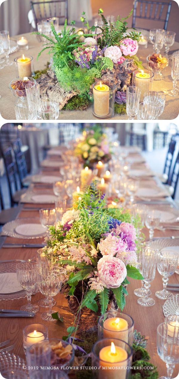 Private Wedding Reception at Blue Mountain - Table Top Floral Decor