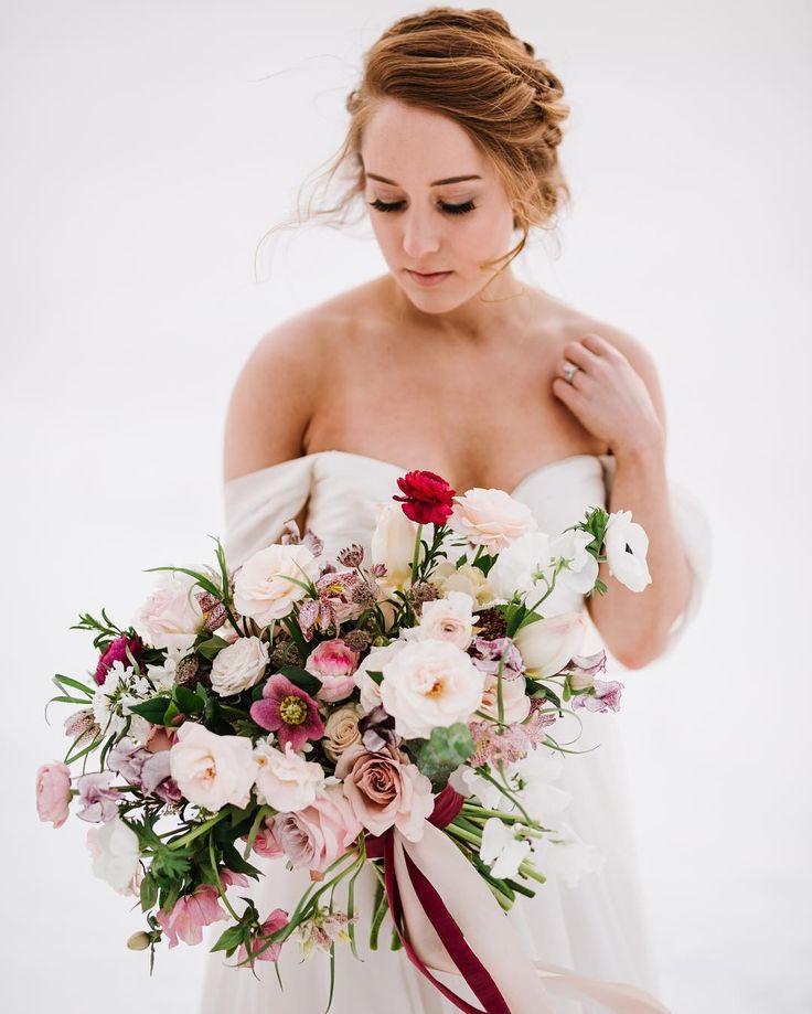 Winter bridal bouquet Sweet Annie Floral Design Photo: Annmarie Swift Photograph...