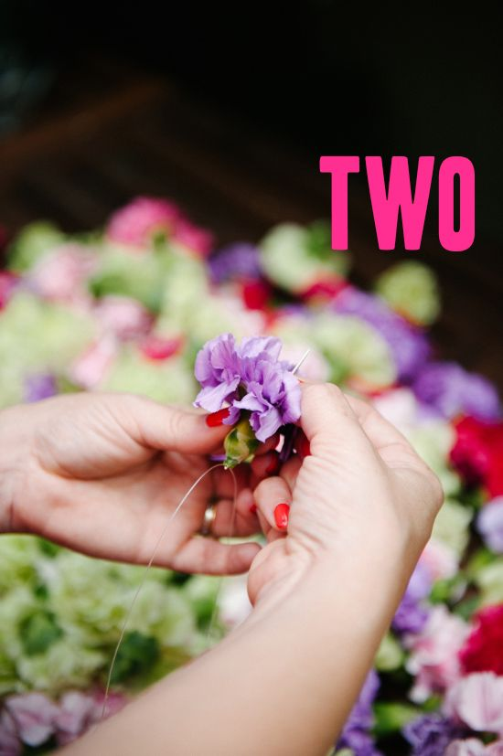 A Practical Wedding | How To Carnation Backdrop