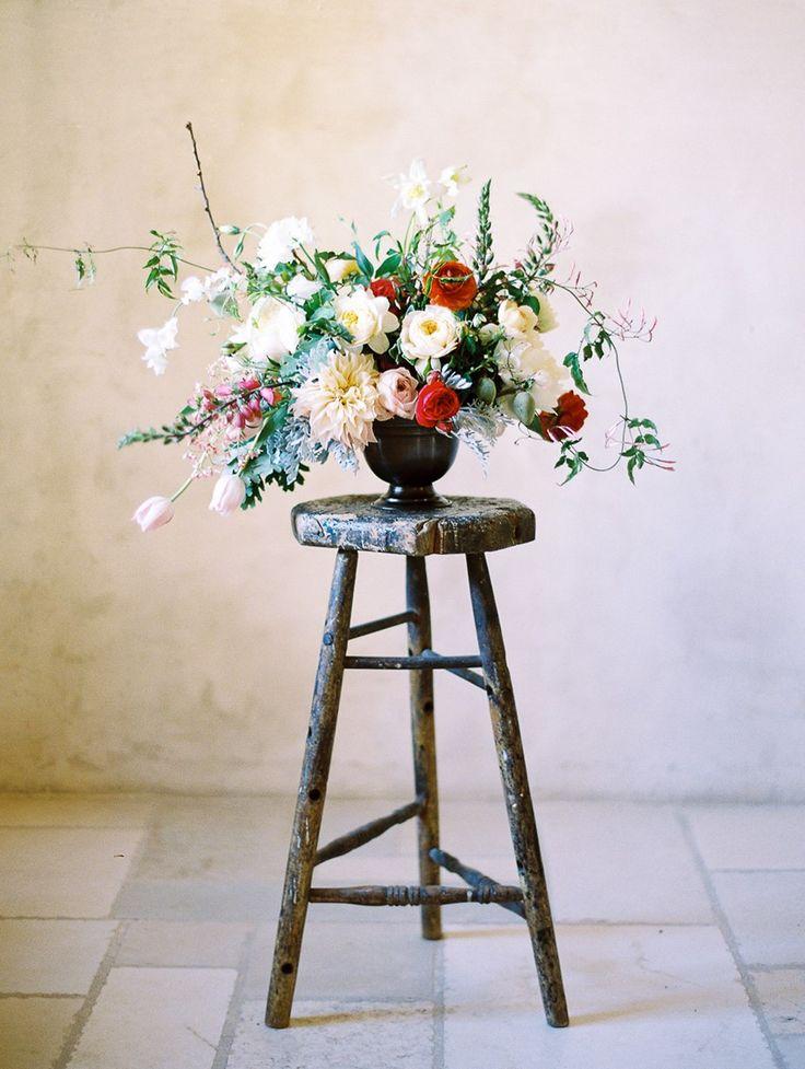 Floral wedding centrepiece // Photography ~ Rachel Solomon Photography