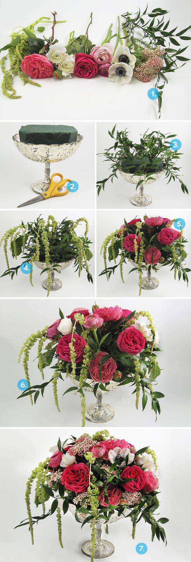 How To: Create a DIY Anemone Centerpiece | A Practical Wedding