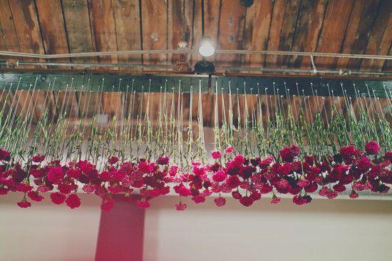 Michelle Edgemont's carnation installation.