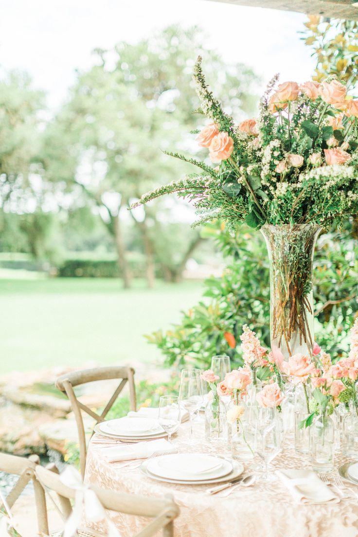 elegant garden party style wedding table
