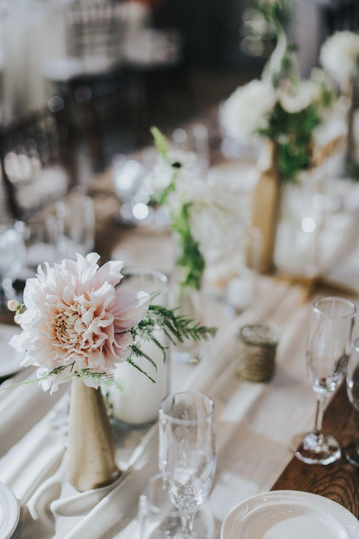 neutral wedding table decor