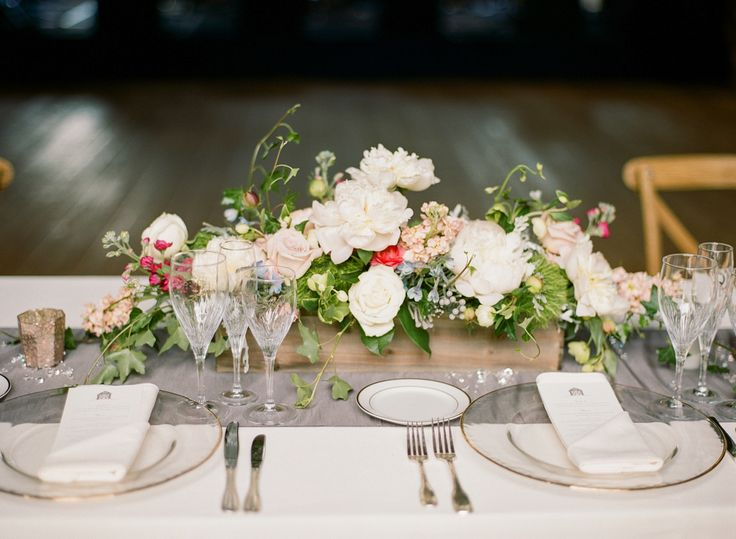 organic wedding centerpiece idea