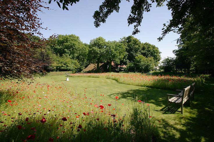Klassieke/ landelijke tuin met bloemenweide
