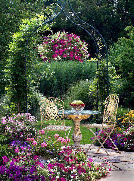 Flowers And Garden Ideas Beautiful Garden Sitting Area