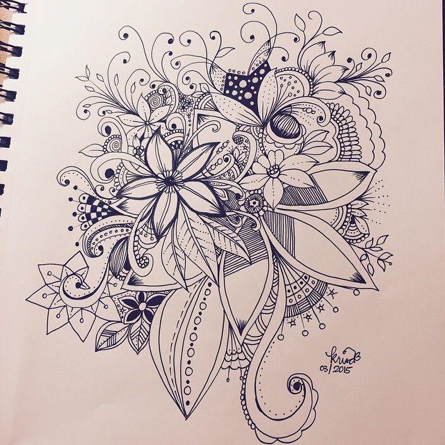 Flowers Drawings   Kc Doodle Art - Flowers Tn