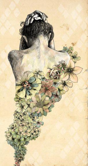 Driad tattoo flowers