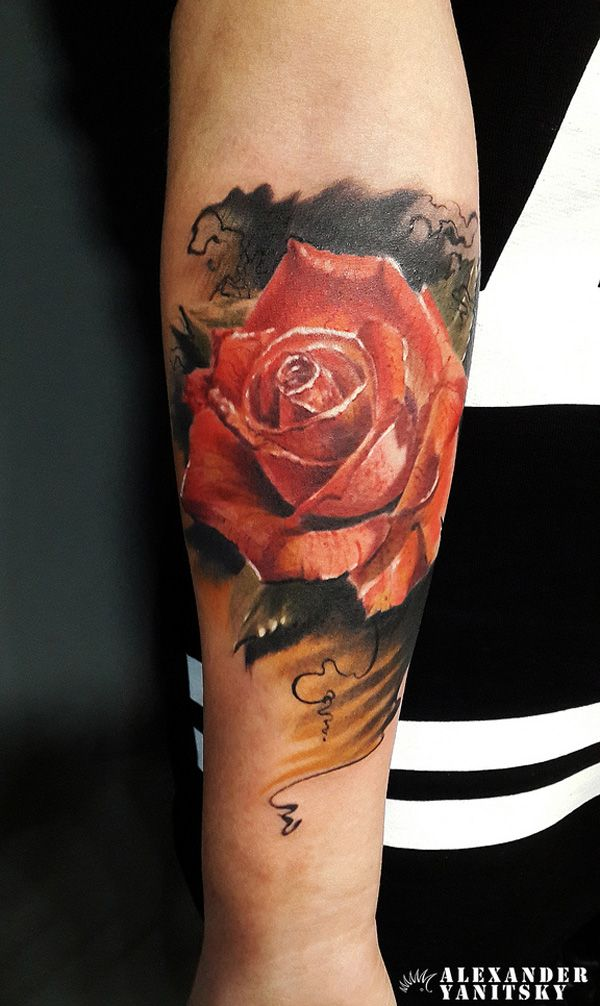 Rose Forearm Tattoo - 55+ Awesome Forearm Tattoos