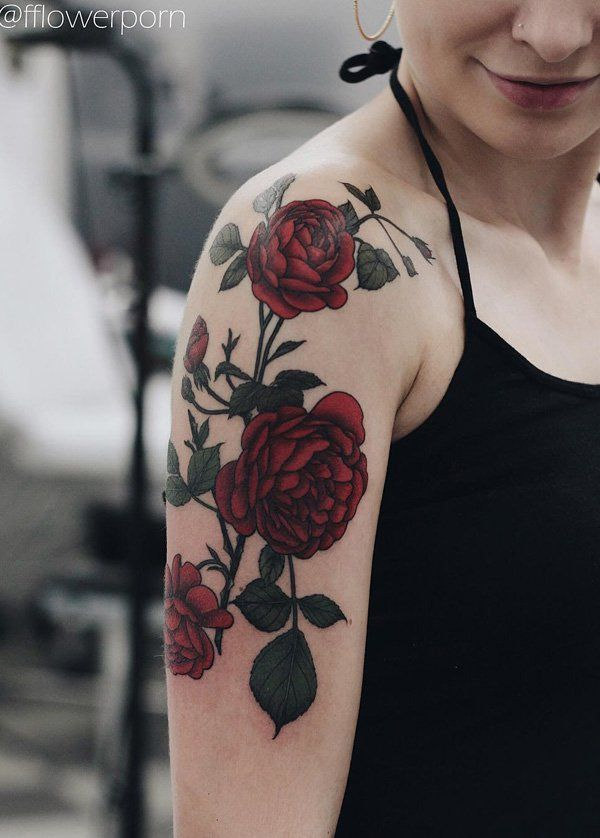 Rose half sleeve tattoo - 100+ Meaningful Rose Tattoo Designs