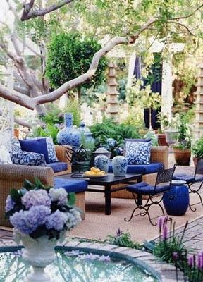 Outdoor Living Space. So gorgeous. Designed by Mary McDonald