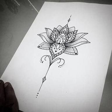 Flowers Drawings Image Result For Unalome Lotus Flower Meaning