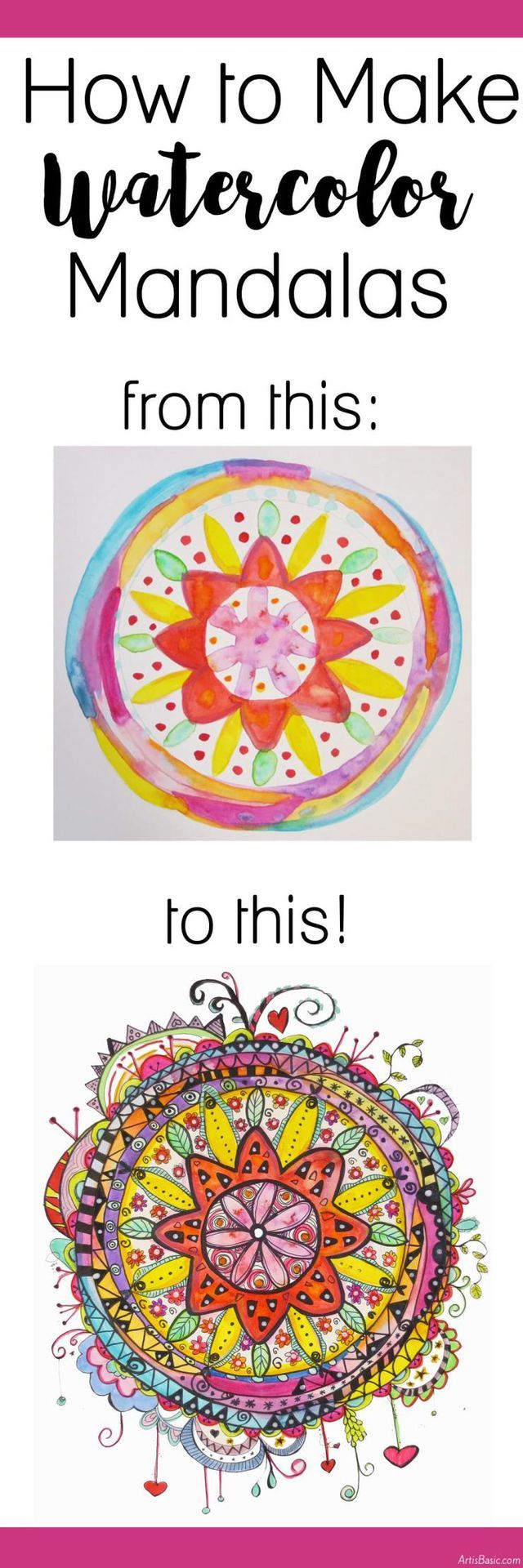 Earlier this summer I wrote a blog post about how to make watercolor doodled flo...