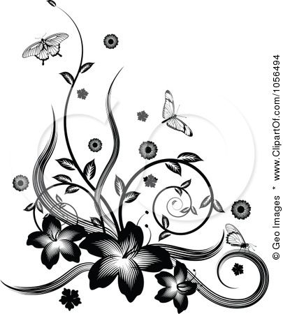 Flowers Drawings Inspiration Magnolia Flower Border Clip Art