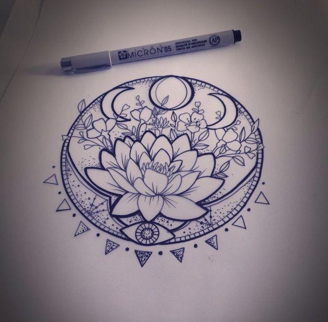 Flowers Drawings Pretty Lotus Flower Tattoo Idea Cool