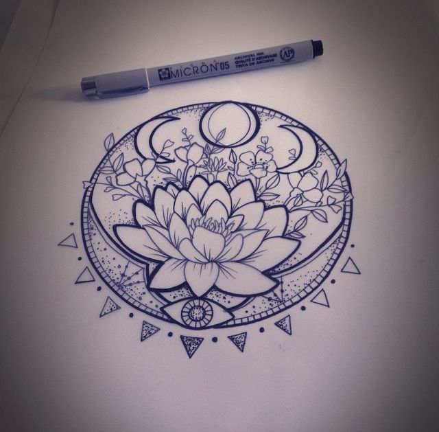 Flowers Drawings Pretty Lotus Flower Tattoo Idea Flowerstn