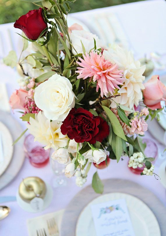 Pink and green floral centerpiece | Wedding & Party Ideas | 100 Layer Cake