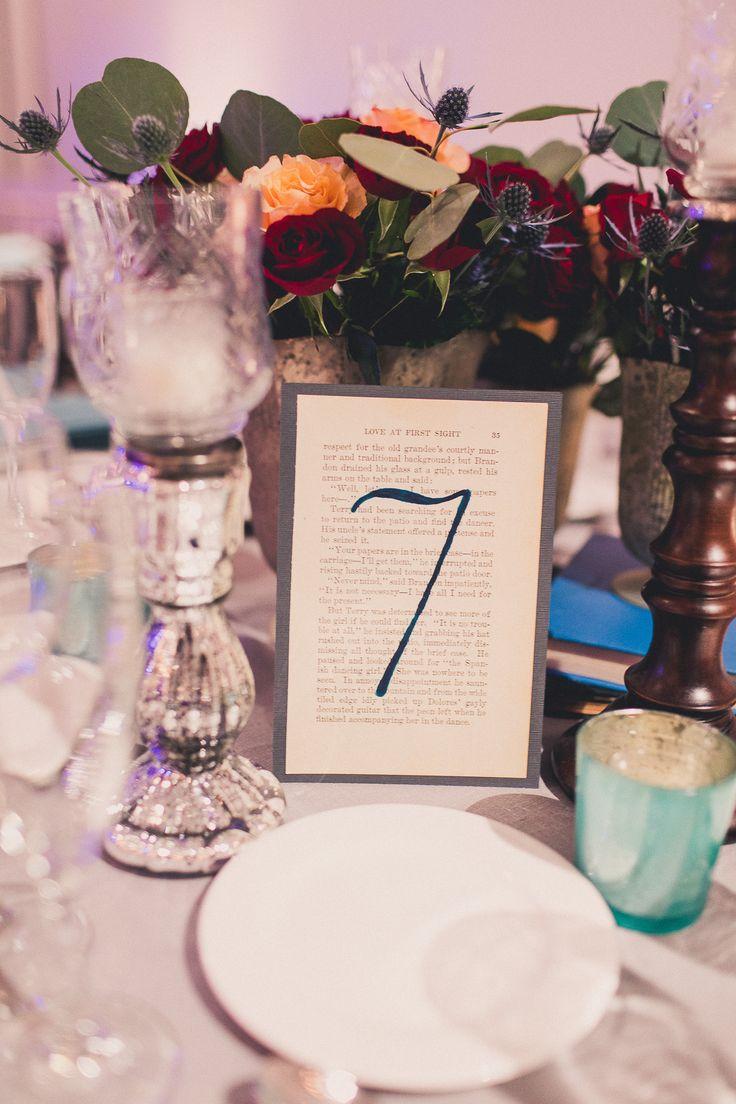 Vintage book table number