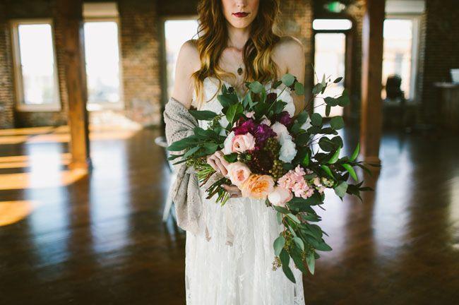 loose floral bouquet