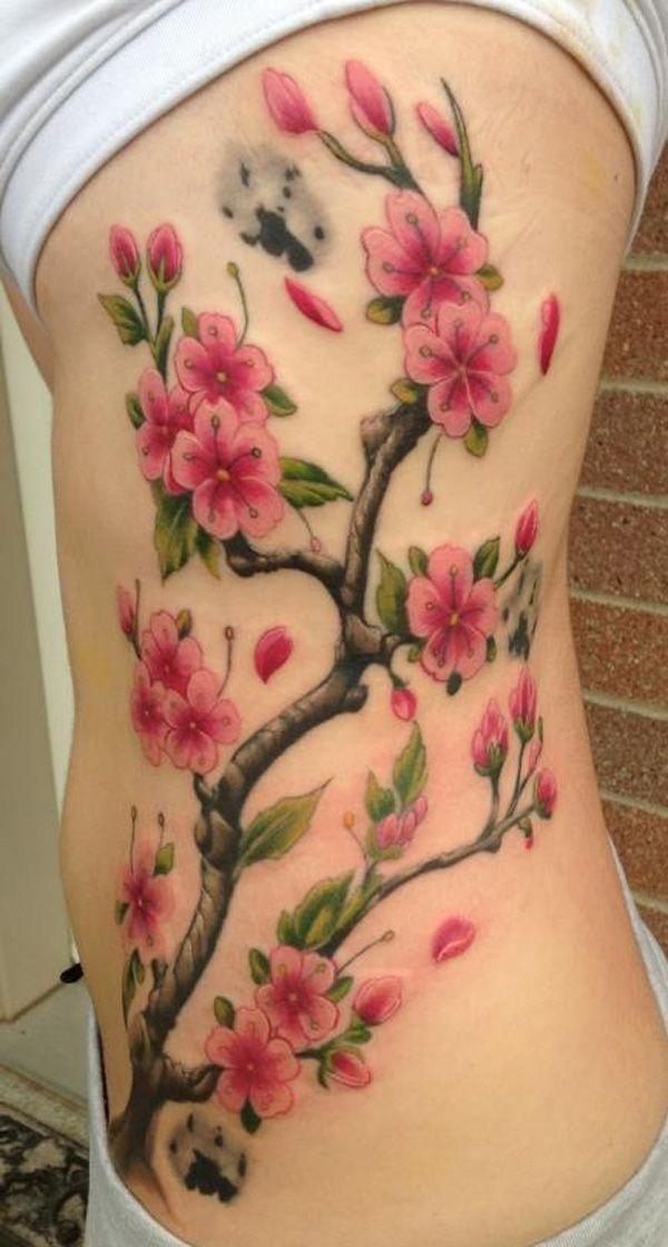 Cherry blossom tattoos for girls