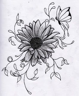 Drawing Flowers - 3D Drawing