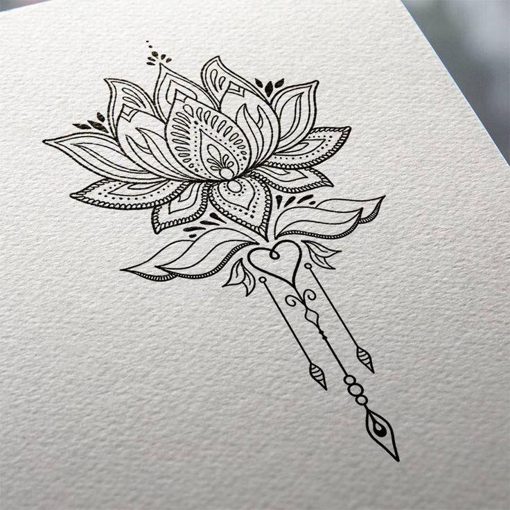 Flowers Drawings Inspiration Lotus Flower Tattoo Design Mnd2